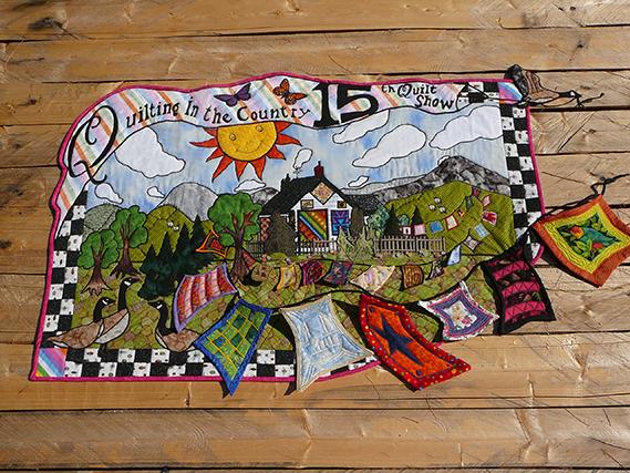 Quilting in the country, en l'honneur de la première boutique de courtepointe que Dominique a visitée, située près de Bozeman au Montana.